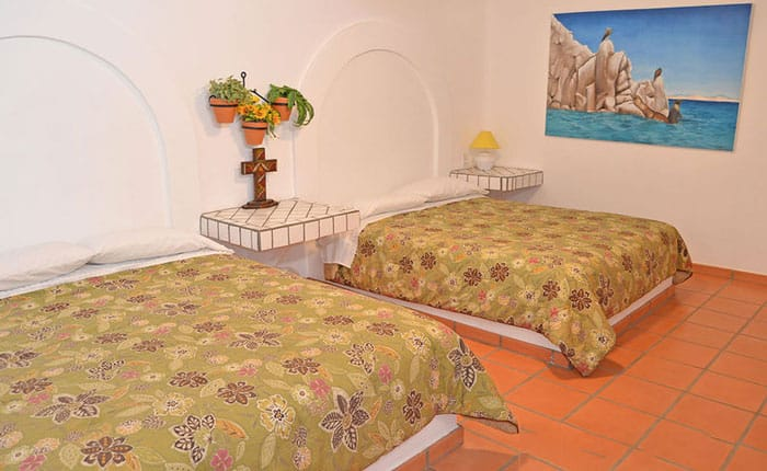 Rocky-Point-House-Rental-Las-Vista-del-Mar-Bedroom-with-two-beds