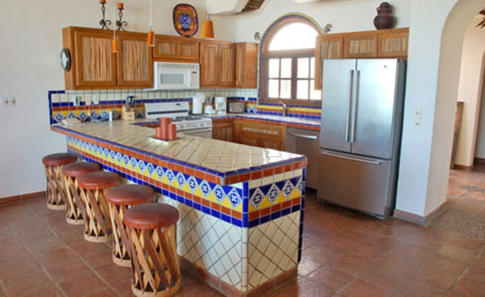 Rocky-Point-Las-Palapitas-Kitchen-with-bar-seating