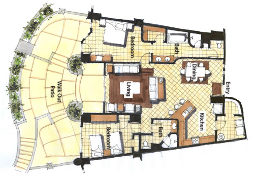 Bella-Sirena-Rocky-Point-Two-Bdrm-Floorplan