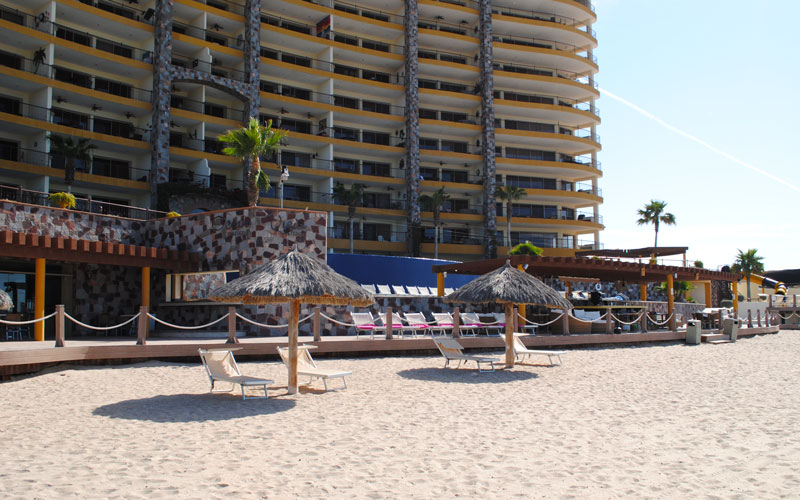 Rocky Point Sonoran-Sky-Resort-Beach-Palapas