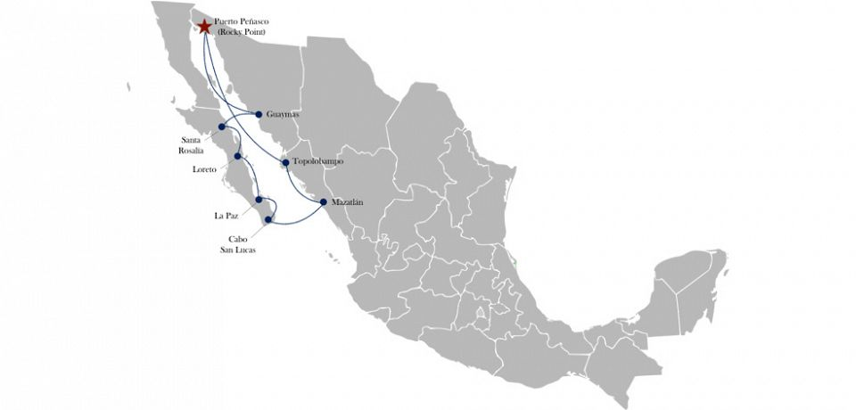 Rocky Point Mexico cruise map